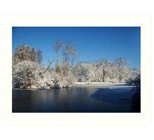 Winter Scene 2 Art Print