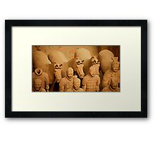 Horsemen One Head Shy Framed Print