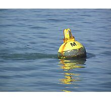 A water buoy in the blue water of San Francisco Bay Photographic Print