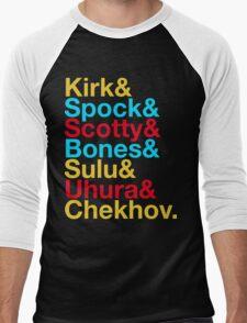 STAR TREK ORIGINAL  Mr. Spock Captain Kirk Uhura Sulu Mr. Chekhov Dr. Bones McCoy  Men's Baseball ¾ T-Shirt