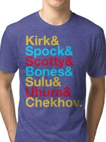 STAR TREK ORIGINAL  Mr. Spock Captain Kirk Uhura Sulu Mr. Chekhov Dr. Bones McCoy  Tri-blend T-Shirt