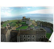 Aerial view of Dover Castle - extremely well planned Poster