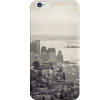Toned New York Skyline - Double exposition iPhone Case/Skin