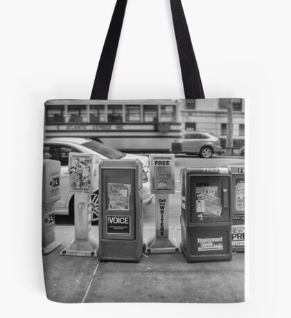 New York Street News Tote Bag