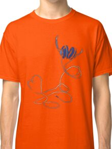 I Love Music in Blue T-shirt Classic T-Shirt