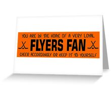 Flyers Fans Greeting Card