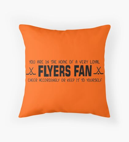 Flyers Fans Throw Pillow