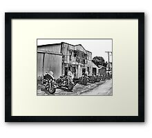The Poker Run Framed Print