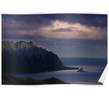 Ko'olau Mountains and Chinaman's Hat Poster