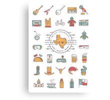 Austin Texas Essentials Canvas Print