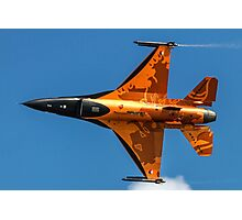 Dutch F-16 2012 Solo Demonstrator Photographic Print