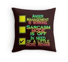 In Need Of A Little More Rehab Throw Pillow