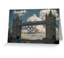 tower bridge 2012 olympics Greeting Card