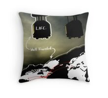 Life, Traveled. Throw Pillow
