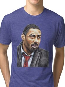 Idris Elba plays Luther Tri-blend T-Shirt