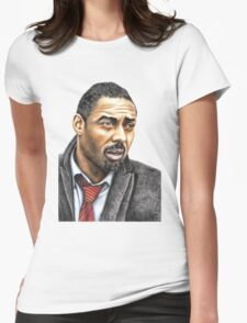 Idris Elba plays Luther Womens Fitted T-Shirt