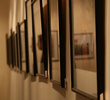 Reflections from a series of photo frames by ashishagarwal74