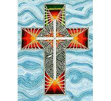 Cross With Design Photographic Print