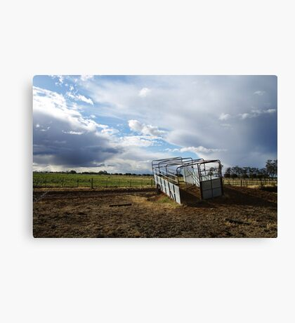 Stock crate Canvas Print