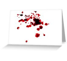 Blood Stained Greeting Card