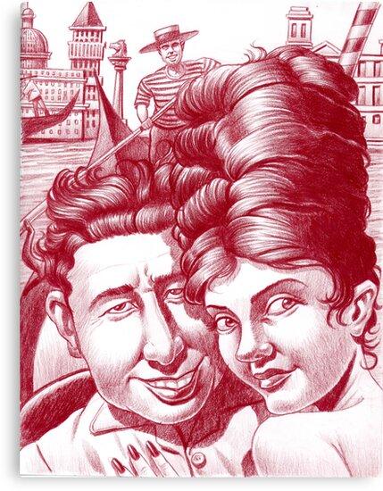 Mia moglie ed io in Venezia.  by Mike Cressy