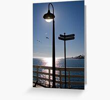 Lamp and Signposts Greeting Card