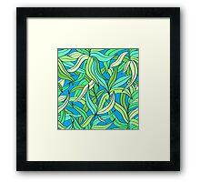 Floral pattern with leaves motive Framed Print