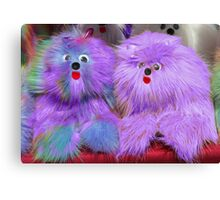 Purple Plush Toys  Canvas Print