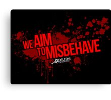 Misbehave Canvas Print