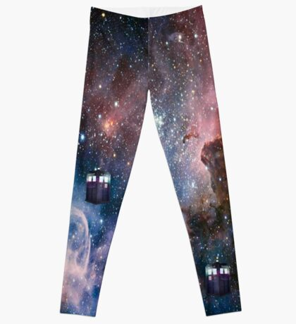 Tardis In Space Leggings