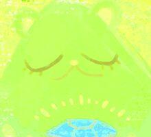Best Luck Bear (Lime bear) by lemonflower