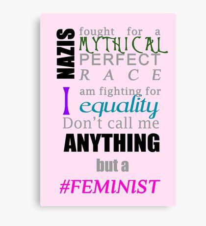 #Feminist Canvas Print