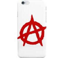 White & Red Anarchist iPhone Case/Skin