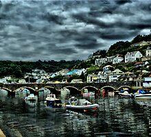 Bridge at Looe Too by Catherine Hamilton-Veal  ©
