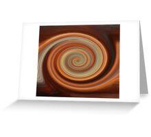 Twirled Copper  Greeting Card