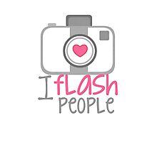 camera photographer flash Photographic Print