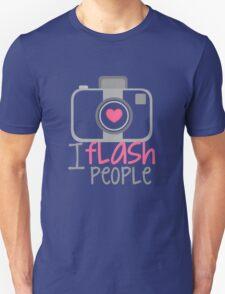 camera photographer flash Unisex T-Shirt