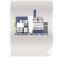 Rietveld Schroderhuis Architecture Tshirt Poster