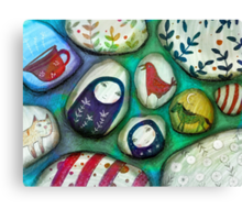 painted stones  Canvas Print