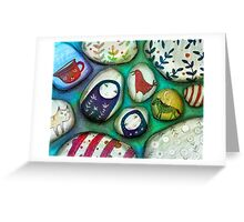 painted stones  Greeting Card
