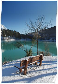 Bench in Snow  by jojobob