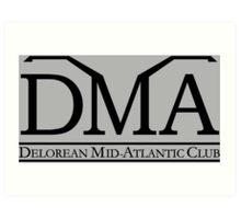 DeLorean Mid-Atlantic Official Logo Black Art Print