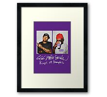 666 Mafia for Supreme Purple Media Cases, Pillows, and More. Framed Print