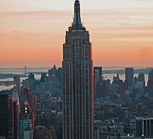 Empire State at Dusk by Hicksy