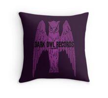 Dark Owl Records Throw Pillow