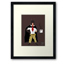 I Hate Bat-Mondays Framed Print