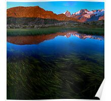 The Mouterres lake and the Meije Poster