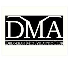 DeLorean Mid-Atlantic Official Logo White Art Print