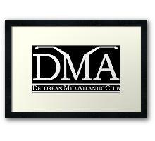 DeLorean Mid-Atlantic Official Logo White Framed Print