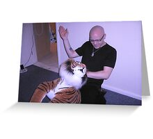 Spanking The Tiger Greeting Card